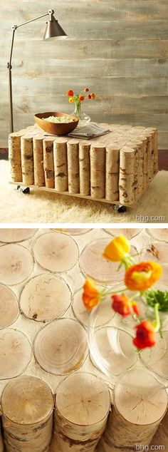 DIY Birch Coffee Table