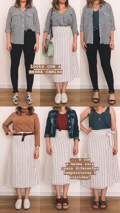 Plus Size Minimalist Capsule Wardrobe Chubby Fashion, Curvy Girl Fashion, Look Fashion, Fashion Outfits, Looks Plus Size, Look Plus, Curvy Girl Outfits, Plus Size Outfits, Fall Outfits