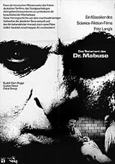 Posteritati: TESTAMENT OF DR. MABUSE, THE (Testament des Dr. Mabuse, Das) R1970 German 23x32