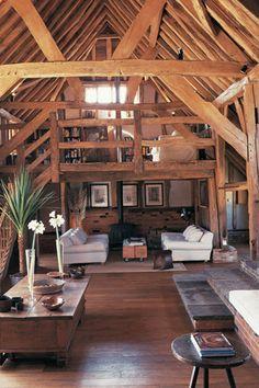 Beautiful barn living room