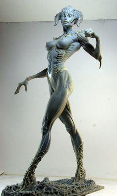 Art Rapture Proud And Confident Nude Roman Goddess Bronze Sculpture Marble Base Figurine