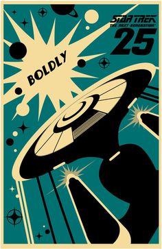 Star Trek: The Next Generation's 25th Anniversary print - USS Enterprise