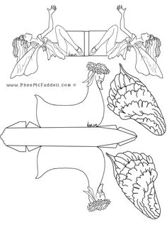 Swan Boat Fairy Craft www.PheeMcFaddell.com