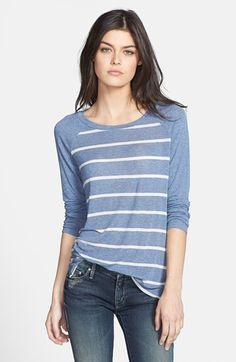 Splendid Stripe Raglan Sleeve Top available at #Nordstrom