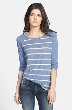 Splendid Stripe Raglan Sleeve Top available at #Nordstrom