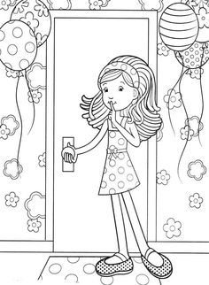 Groovy Girls Give Surprises Coloring Pages