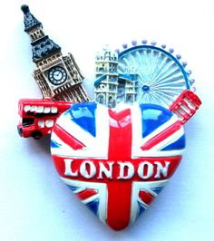 LONDON SCOTLAND SOUVENIRS UNION JACK mix of 33 BRITISH KEYRING FRIDGE MAGNETS