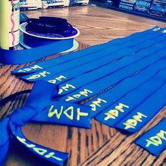 Sigma Delta Tau hair ribbons