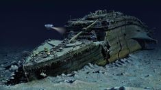 Of the estimated who sailed on the Titanic when it left port at Southampton for New York City, more than died. The remnants of the Titanic are seen above on the floor of the North Atlantic Ocean Rms Titanic, Titanic Wreck, Titanic Today, Titanic Sinking, Titanic Photos, Titanic Movie, Titanic Underwater, Underwater Images, Belfast