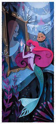 Disney WonderGround Gallery Mermaid Ariel What's A Fire Postcard by Brittney Lee
