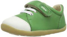 Bobux 460695 - Zapatos para bebé de cuero para unisex-bebé, color verde, talla 20