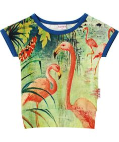 Baba Babywear gorgeous blouse with flamingo print. baba-babywear.en.emilea.be