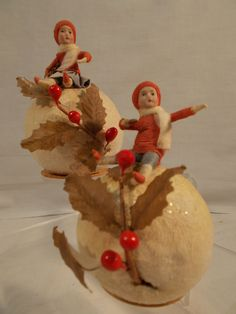 Pair Heubach Kids on Snowball Candy Containers German 1910 20 | eBay
