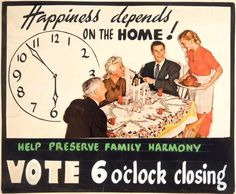 June 8 - Six o'clock - vintage sign, happiness depends on the home - vote 6 o'clock closing. Fat Mum Slim, New Zealand Wine, Six O Clock, Older Couples, Photo A Day, Sign I, Vintage Signs, Family Life