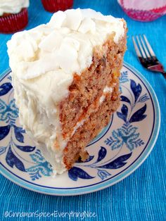 Hummingbird Cake _  Is a Southern Specialty with banana, pineapple & pecans enrobed in a cinnamon-spiced cake topped with cream cheese frosting. I served this at my dinner party sponsored by McCormick Gourmet