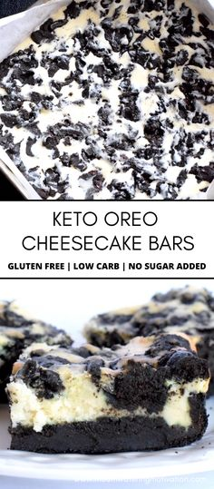 Oreo Cheesecake Bars, Low Carb Cheesecake Recipe, Keto Chocolate Recipe, Low Carb Chocolate, Low Carb Deserts, Low Carb Sweets, Healthy Sweet Treats, Healthy Sweets, Keto Desert Recipes