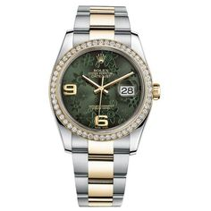 Pre-owned Rolex Datejust 36 Steel & Yellow Gold Oyster Bracelet Watch... (893.010 RUB) ❤ liked on Polyvore featuring jewelry, watches, gold wristwatch, rolex watches, i love jewelry, steel watches and dial watches