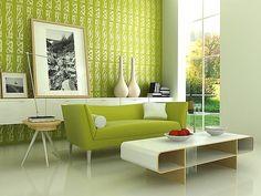 Moden Green Living Room Design