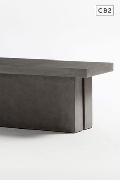 Aggregate of cement, granite, stone, marble and natural fibers sculpt an industrial floating cantilever that reminds us of Wright's Fallingwater. Maintain table's honed beauty and natural intonations with beeswax or clear stone floor polish. Seats up to six. Indoor and protected outdoor use.