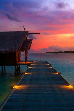 Sunset Dock in Thailand