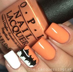 Orange Nails from The Lacquerologist