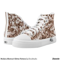 28bf10cb25ed Modern Abstract Glitter Pattern High-Top Sneakers