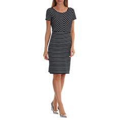 Buy Betty Barclay Contrast Stripe Shift Dress, Dark Blue/Cream Online at johnlewis.com