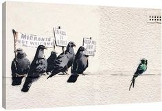Jaxson Rea Immigration by Banksy (Giclee Canvas)