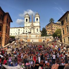 You see a range of humanity while sitting on the Spanish Steps.  We saw a rally, a protest, some people getting arrested, lovers kissing, an old woman crocheting, dogs lounging,  and lots of people enjoying gelato.  I think we will go back there every time we get to Rome.