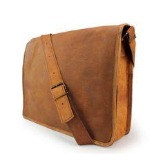 """Ledertasche Umhängetasche Leder Notebooktasche + gratis Lederpflege BALLISTOL - Ideal für das Macbook 15"""" mit Retina Display"""