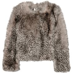 Topshop Unique D'Arblay Chubby animal-print shearling jacket ($410) ❤ liked on Polyvore featuring outerwear, jackets, leopard print, topshop unique, brown jacket, shearling jacket, leopard print jacket and animal print jacket