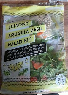 What's Good at Trader Joe's?: Trader Joe's Lemony Arugula Basil Salad Kit Trader Joes Salad, Carrot Chips, Dorm Food, Snack Recipes, Healthy Recipes, Snacks, Salad Kits, Avocado Dressing, Lemon Basil