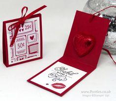 Stampin' Up! Demonstrator Pootles - Sending Love Chocolate Treats & Hidden Message