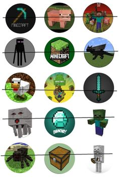Minecraft is a procedurally-generated game of world exploration, resource harvesting, and freeform construction. Minecraft supports local and online multiplayer, and features are being added regularly. Minecraft Party, Minecraft Ideas, Playing Games, Games To Play, Minecraft Posters, Image Sheet, Bottle Cap Images, Diy Jewelry, Badge