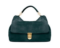 Coccinelle Turquoise suede hobo