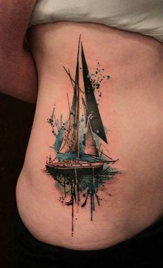 Gene Coffey sail Boat Tattoo -