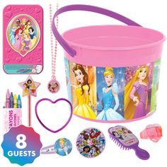 Disney Princess Ultimate Favor Kit for 8 Guests Party City Princess Party Supplies, Princess Party Favors, Kids Party Supplies, Disney Princess Toys, Disney Princess Birthday Party, Cinderella Party, Fantasias Halloween, Halloween Costumes For Kids, Toys For Girls