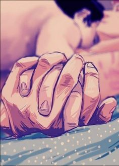 красиво, парень и девушка, пара, нарисованное, объятия, поцелуй, любовь, секс