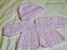 FREE PATTERN FRIDAY! on my blog: http://favoritelittleprincess.blogspot.com/2013/06/easy-baby-sweater-and-hat.html