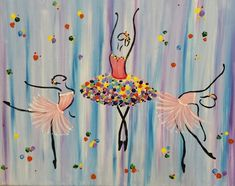 Easy Canvas Painting, Abstract Canvas Art, Painting For Kids, Diy Painting, African Art Paintings, Dance Paintings, Ballerina Painting, Watercolor Clouds, Drink Wine