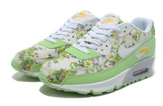 nike air max woman flowery shoes in cyan for sale