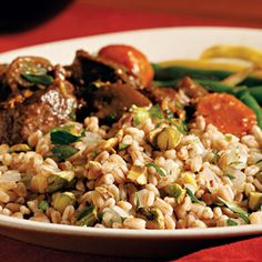pistachios into farro for a simple side dish. Serve this simple ...