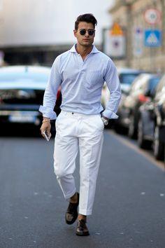 Розовые брюки, цветочные жакеты, бусы из ракушек и много желтого на улицах Милана | Журнал Harper's Bazaar