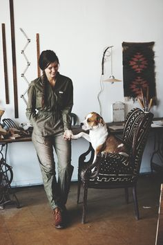 An interview with Brooklyn-based furniture designer and woodworker Ariele Alasko about her dog, a pitbull-boxer mix named Mazie! Dog Milk, Dog Collar Tags, Bed Stuy, Building Furniture, Fun Hobbies, Animal Pillows, Diy Stuffed Animals, Mans Best Friend, Marie