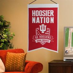 "Declare your home to be part of the official ""Hoosier Nation"" with this 15"" x 20"" Indiana University banners. Go Hoosiers!"