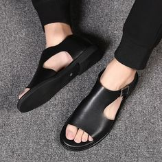 Roman Sandals, Men's Sandals, Flats, Leather Slippers, Leather Sandals, Casual Sneakers, Casual Shoes, Beach Shoes, Beach Sandals