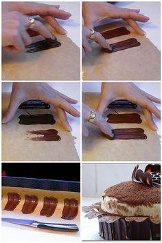 Chocolate Petals cake decoration