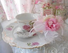 Princess Pink Lace Rose Tea Party Spoon Tea Time teacup Marie Antoinette Sparkling Shabby Chic Love  Roses Valentine Christmas