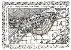 Zentangle Birds | Recent Photos The Commons Getty Collection Galleries World Map App ...
