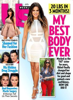 Our new issue: Khloe Kardashian's weight loss!